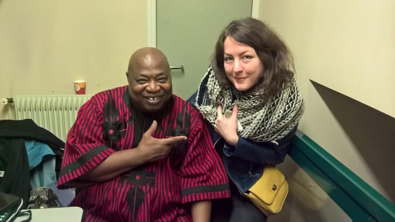 Cheick Tidiane Seck et moi. Journées Maliennes.18.03.2017