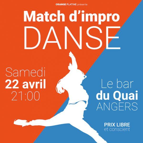 Pour la première fois en France, à Angers : un match d'improvisation sur la danse !